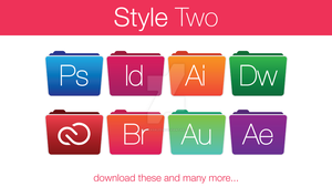 Adobe Folder Icons Style Two by hamzasaleem