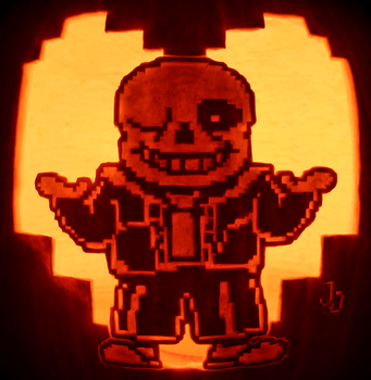 You're Gonna Have a Bad Time - Sans Pumpkin by johwee