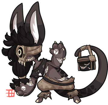 #1121 Tribal BB - Monster under the bed by griffsnuff