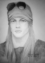 Young Axl Rose by sendee
