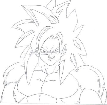 Goku Super Saiyan 4 WIP by pete-tiernan
