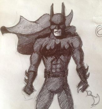 Batman Doodle Part Deux by gordonholmes