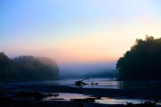 River Morning Fog by Wilkster07