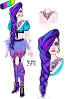 Neon girl by brianne333