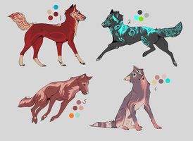 Canine Adoptable Batch 3 -CLOSED- by wolfkittyadopts
