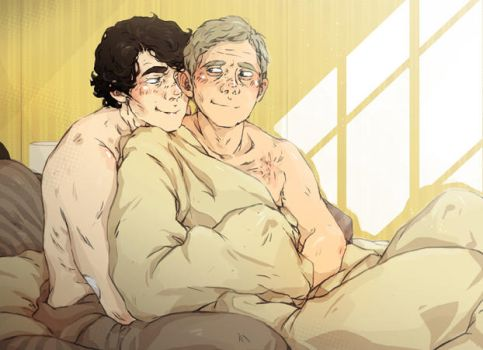 Sherlock: Fluffy cuddles by sweetlittlekitty