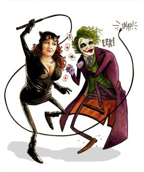 Catwoman and the Joker by dsb