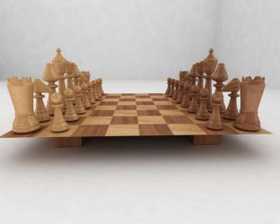 Wooden Chess by vdecides