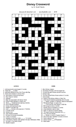 Disney Crossword by DubyaScott