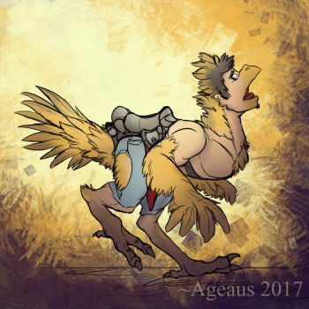 Patreonsketch: Chocobo'd by Ageaus
