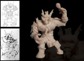 Gears of Warcraft Maquette by dustMights