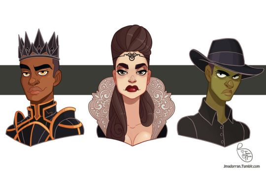 Commission - Evil Queen and her Sons by MeoMai