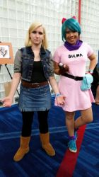 Comicpalooza 2015 - Bulma and 18 cosplay by Imperius-Rex