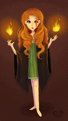 Fire witch by Ellanaa