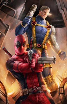 Deadpool and Cable by NOPEYS