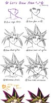 How To Draw Atem/Yami Yugi by Ycajal