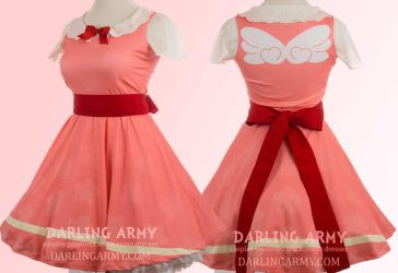 Cardcaptor Sakura Pink Cosplay Printed Dress by DarlingArmy
