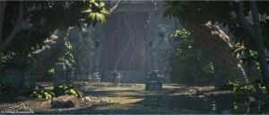 Temple Entrance by 3DLandscapeArtist