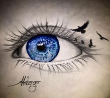 Blue eye by almberger