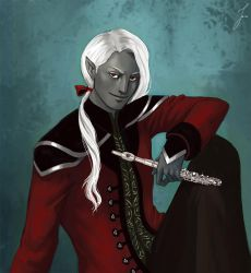 Commission: Drow bard by iara-art
