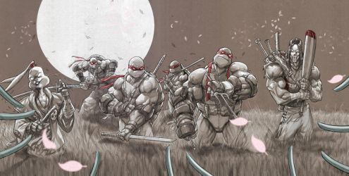 tmnt and friends by MiaCabrera