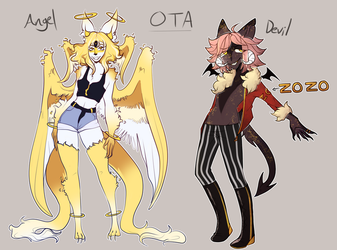 Collab Angel And Devil Ota OPEN by megumins