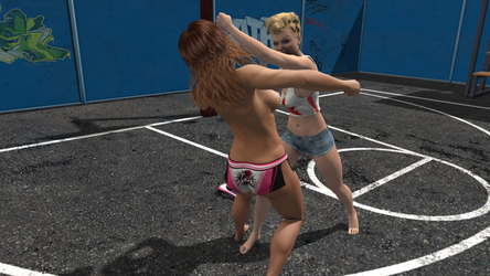 Angie-39 street fight by angie-39