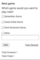 Vote for the Next Game! by spikerman87
