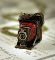 Antique Pocket Camera Necklace by NeverlandJewelry
