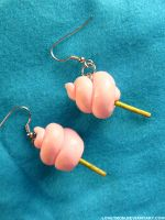 Cotton Candy Earrings by LOVETRON