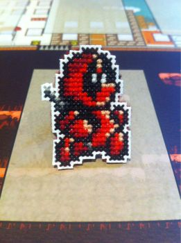 Deadpool cross stitch pin by fangy89