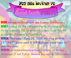 Kimmy's 2018 Fantage Good Luck Party Invitation by MissThammavongYo