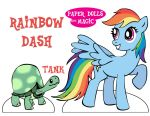 Paper Dolls are Magic: Rainbow Dash by lucky-lotto