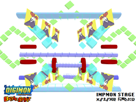 Digimon Battle Spirit: Impmon Stage by Gale-Kun