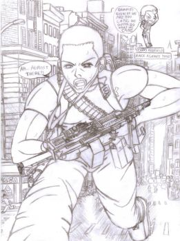 Chris Redfield-Race against time outline by BIGMANSCO