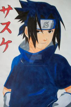 Sasuke Uchiha young -colored- by SakakiTheMastermind