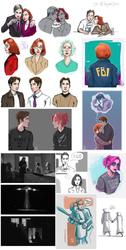 the x-files doodles by kacey-lynn