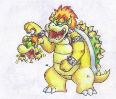 Bowser and Bowser Jr. by AltiaStudio