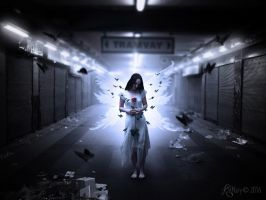 Broken hearted angel by katmary