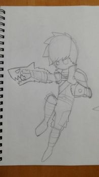 Aura in action!!! W.I.P by Castor3315