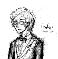 Aziraphale Pencil Sketch by Ankh-of-chiaroscuro