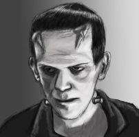 Black and white No. 1 Frankenstein Monster by Ignis-vitae