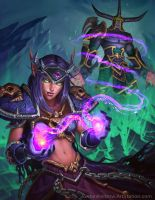 World of Warcraft Blood Elf Demonology Warlock by JordanKerbow