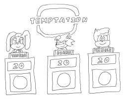 Vanilla, Bernie, and Tangle on Temptation by dth1971