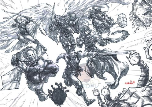 Warlords (pencils) by emmshin