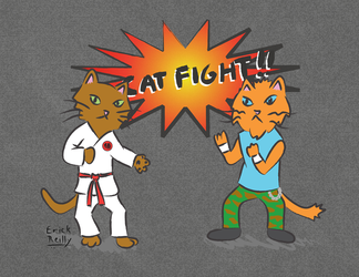 Cat Fight by Erikku8
