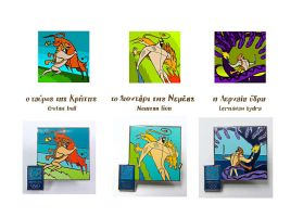 Labours of Hercules pins 3 by troutfishing