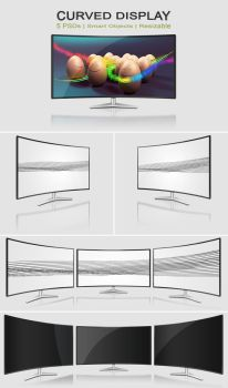 Curved Monitor | PSDs by abdelrahman