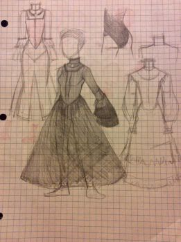 English Black Dress Design by FoolytheCat
