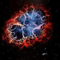 Crab Nebula by crazycolleeny